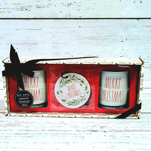 Rae Dunn Christmas Candles Set